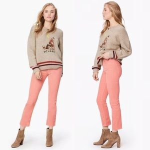 MOTHER Jeans The Mid Rise Dazzler Ankle Blush Pink